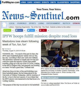 Fort Wayne News-Sentinel, 2014.